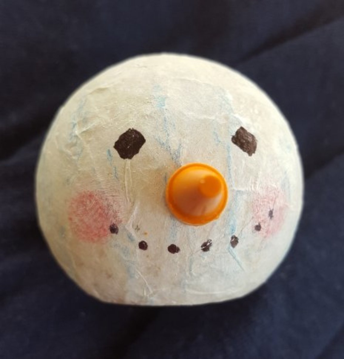 Adding features to your snowman's head