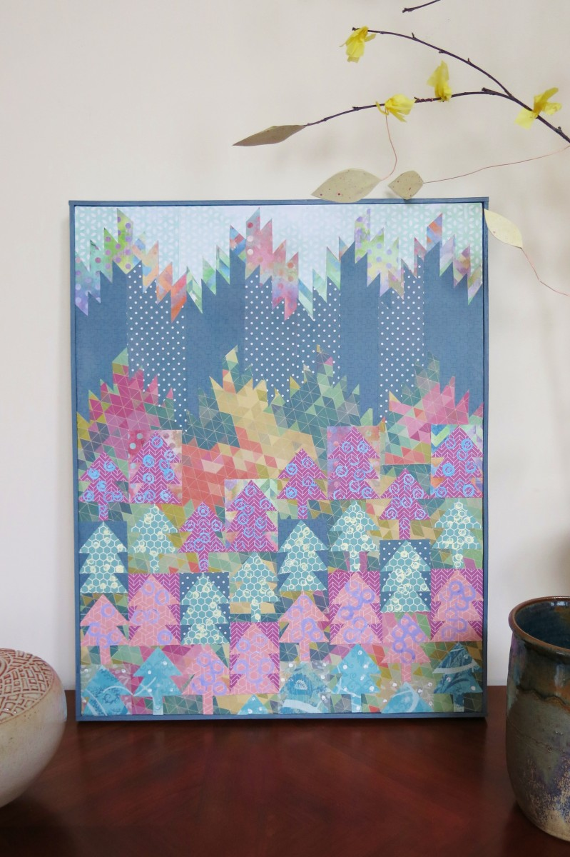 Completed Lattice Frame With Non-Mitered Corners for a Stretched Artist's Canvas