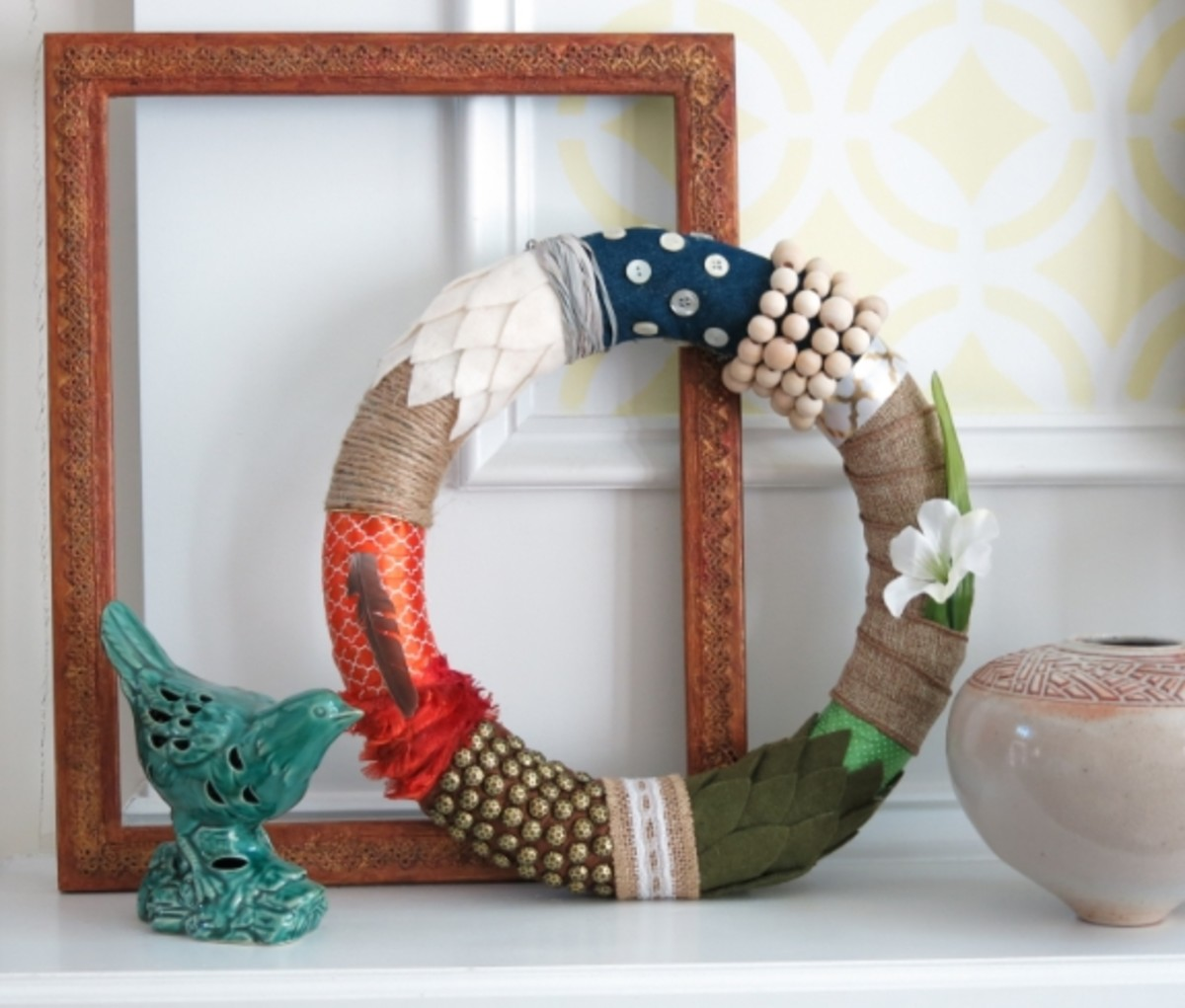 How to Hang Your Four Seasons Fabric and Ribbon Wreath