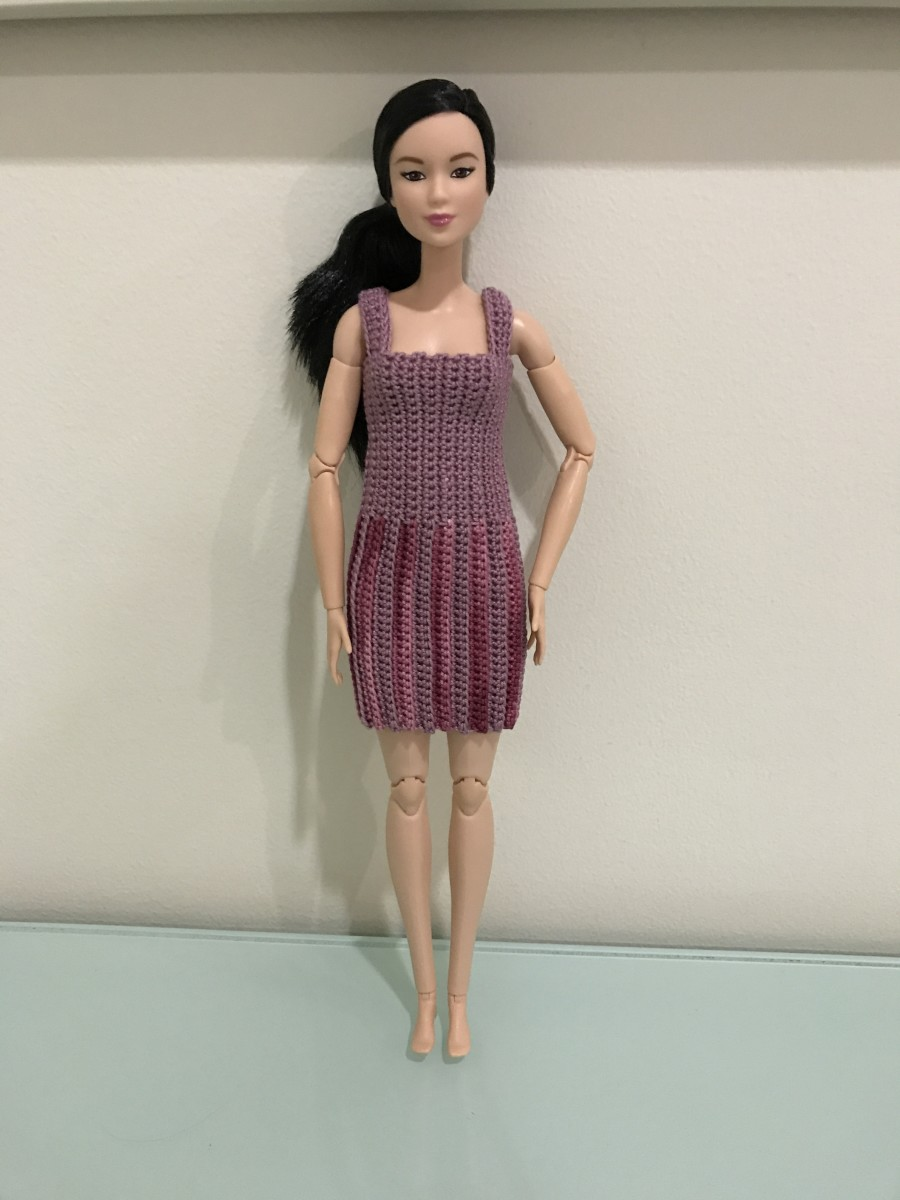 Barbie Vertical Striped Dress