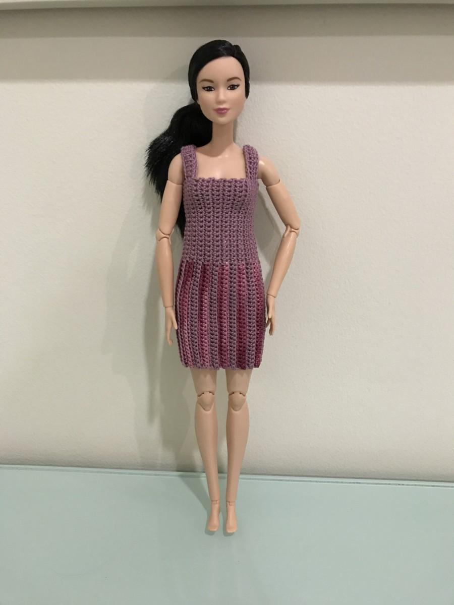 Barbie Vertical Striped Dress