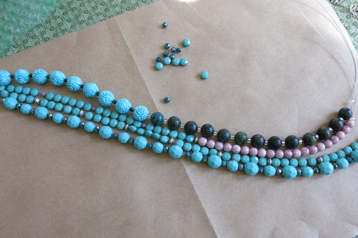 Keep adding beads until you reach your desired length.