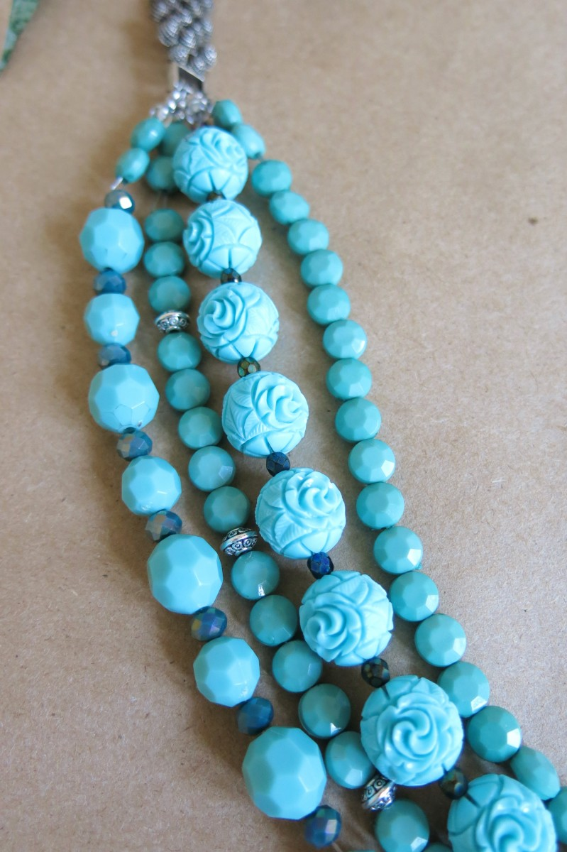 Add beads to multiple strands at once or just go strand by strand.