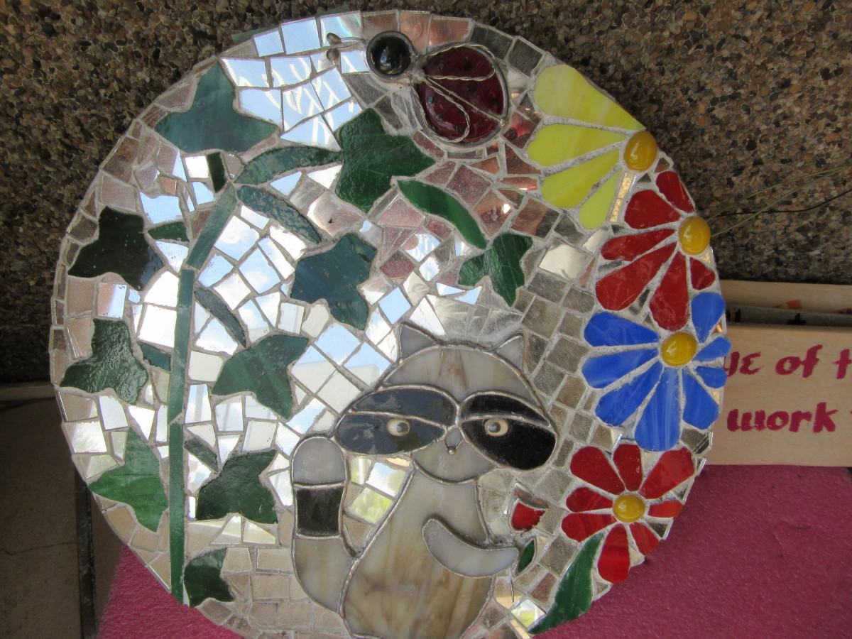 A cement stepping stone by Dawn Kovera