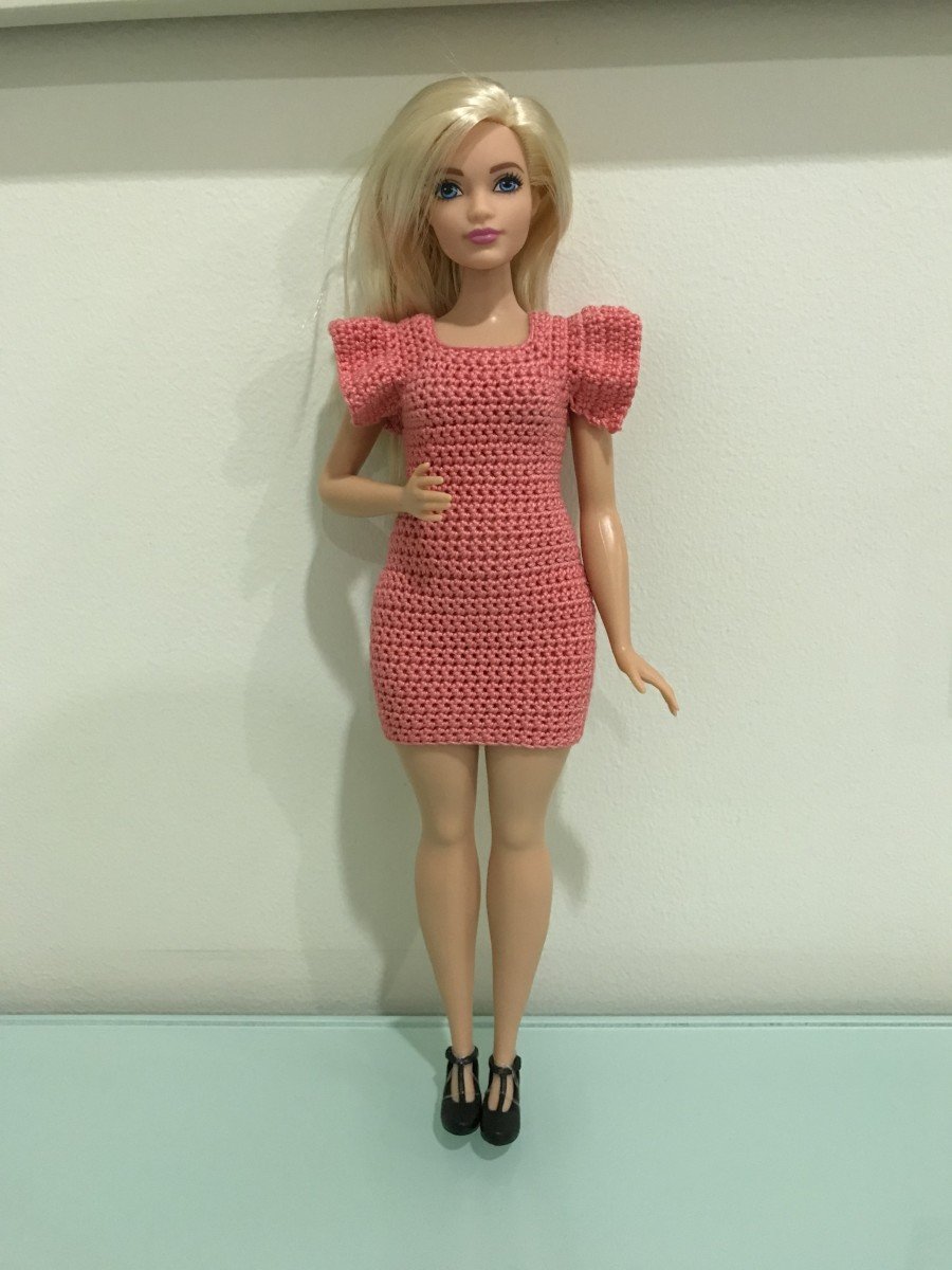 Curvy Barbie Flutter Sleeve Bodycon Dress