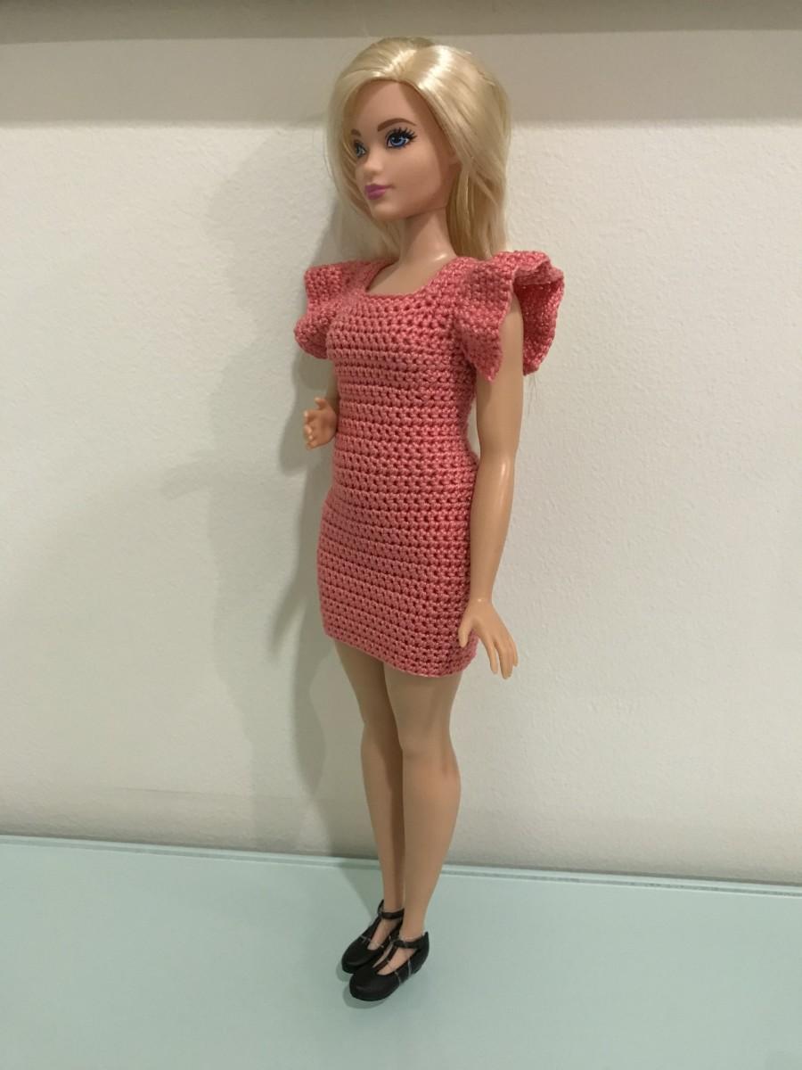 Curvy Barbie Flutter Sleeve Bodycon Dress -  Flutter Sleeves