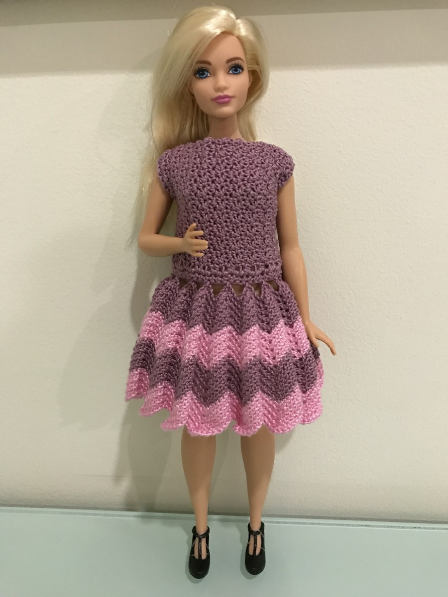 Curvy Barbie Chevron Dress