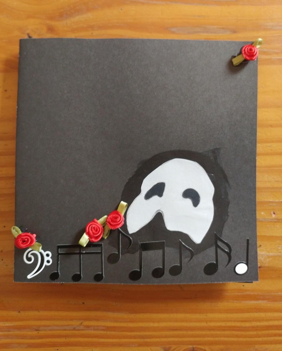 Phantom of the Opera themed invitation card.