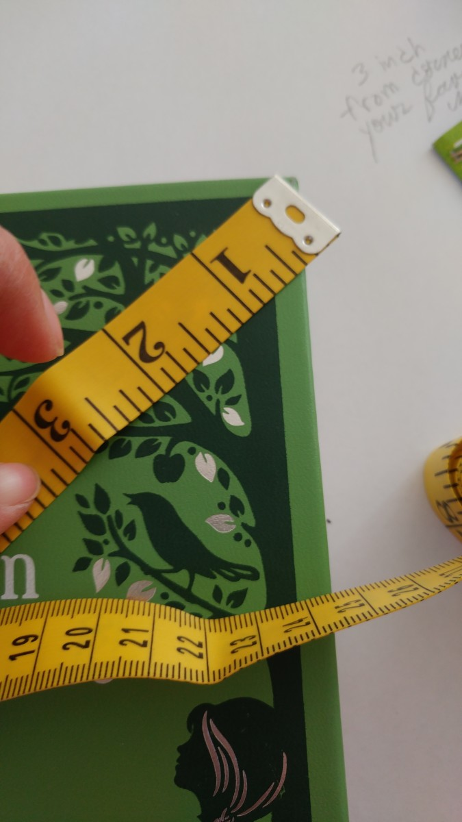 Three inches is an average length for this bookmark. Choose any book you wish to measure size.