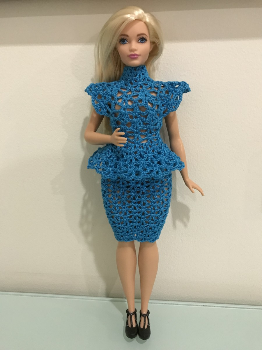 Curvy Barbie Peplum Top and Skirt