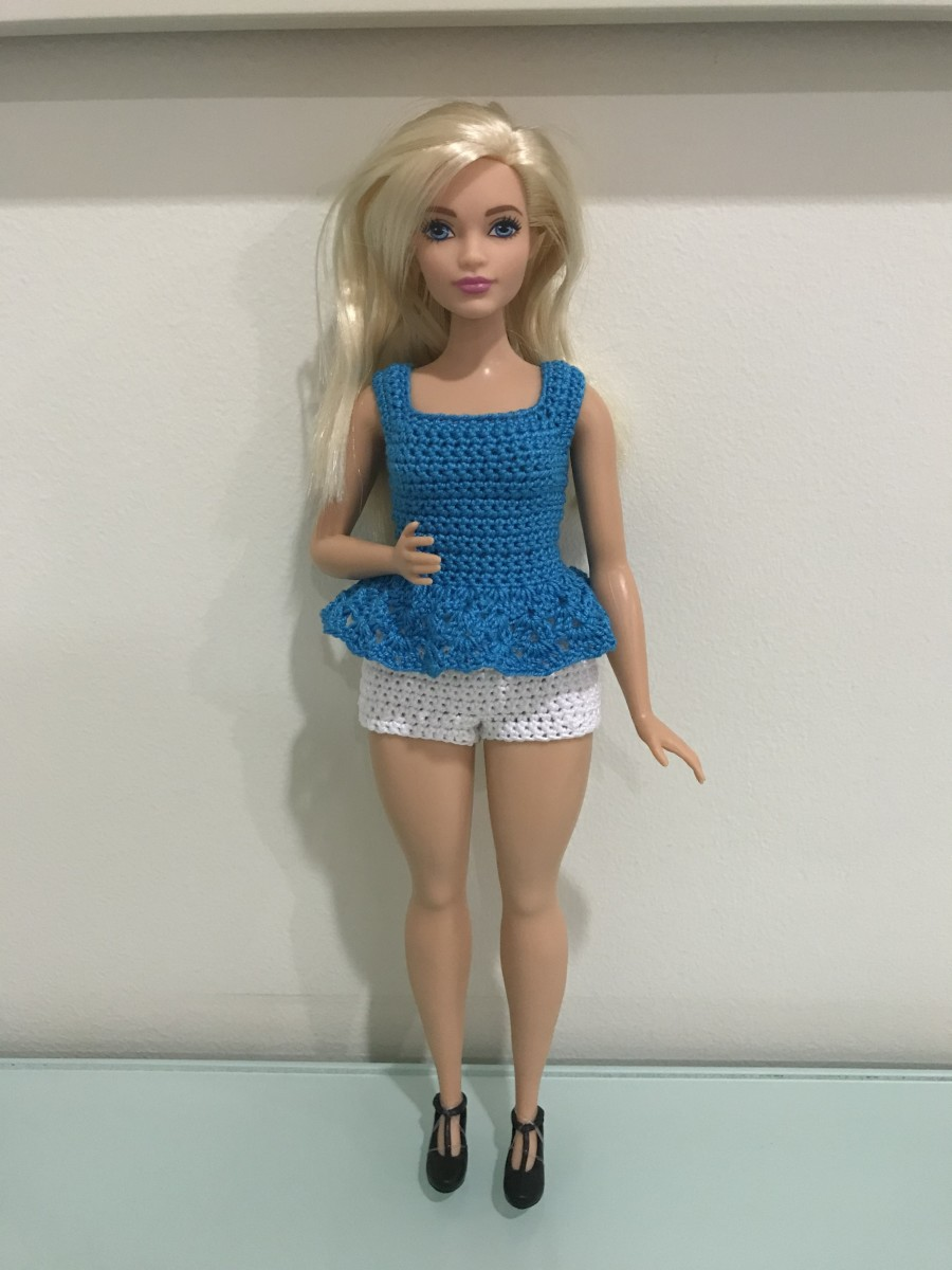 Curvy Barbie Peplum Top and Shorts