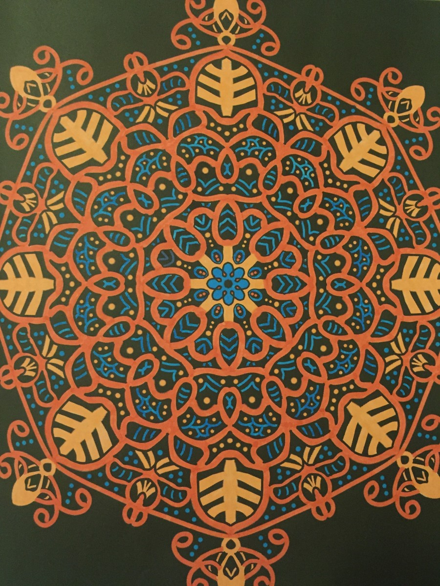 "From ""Glowing Mandalas"" book by Asma Zergui"