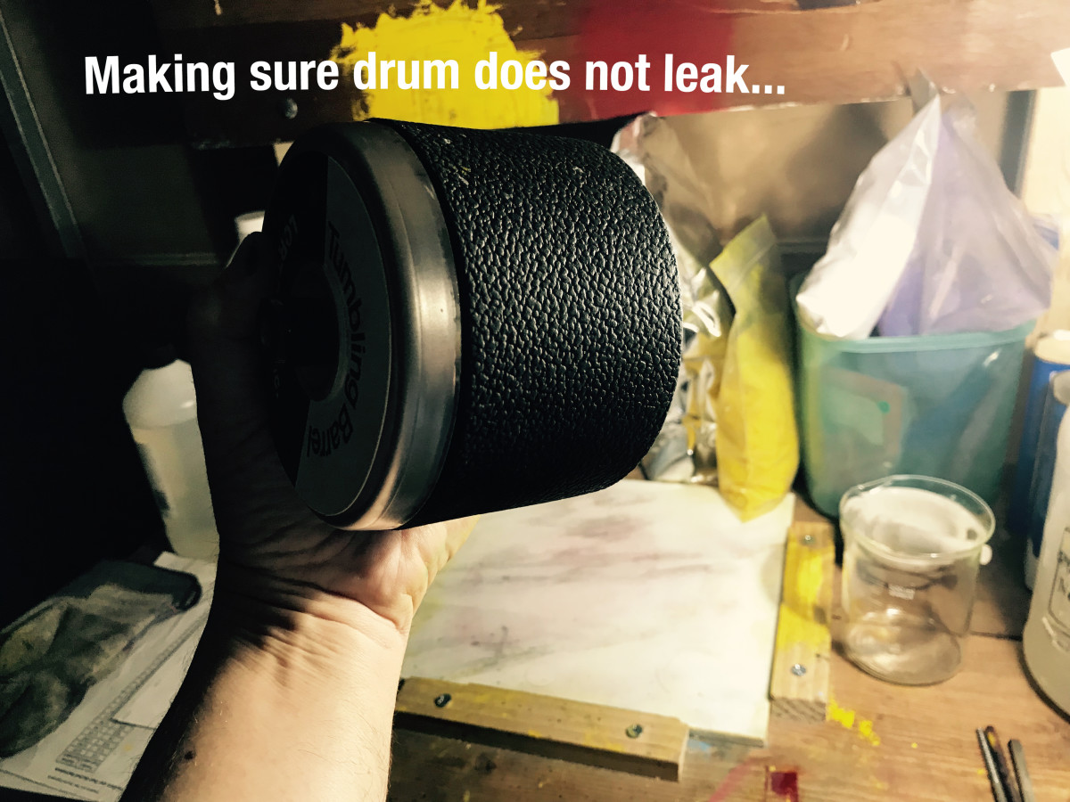 Making Sure Drum is Sealed Tight to Prevent Leakages