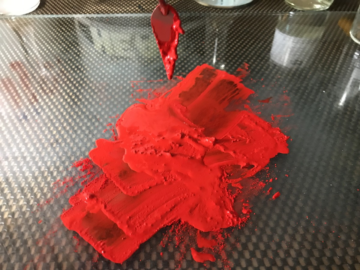Wetting and Mixing Pigment With Water