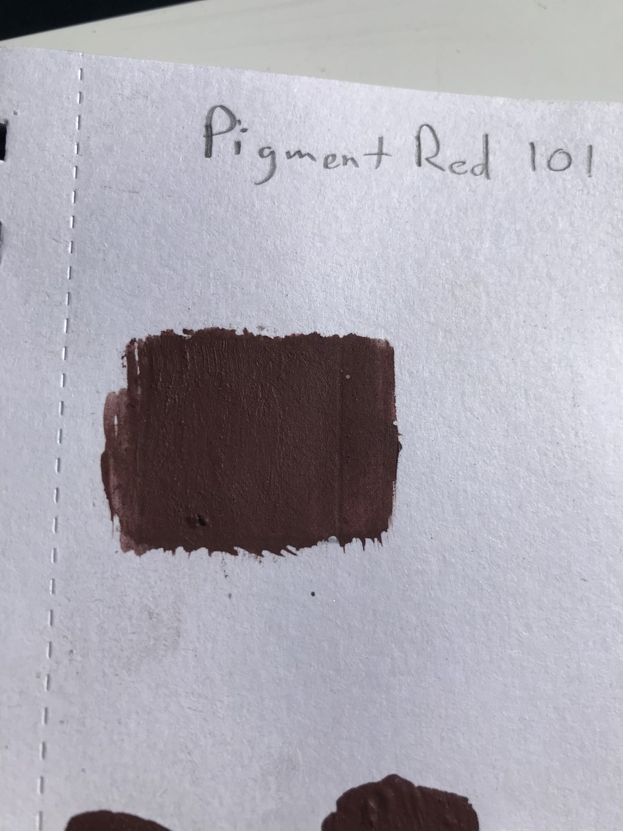 Acrylic Paint Swatch with Micronized Iron Oxide in Matte Finish (Higher Pigment Load)