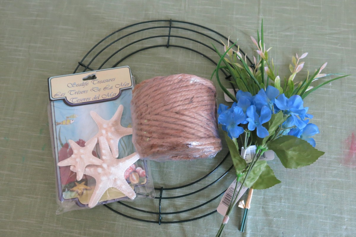Materials for Woven Twine Wreath