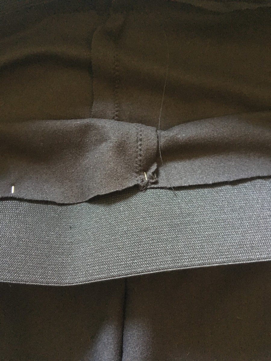 Inside view of pinned elastic
