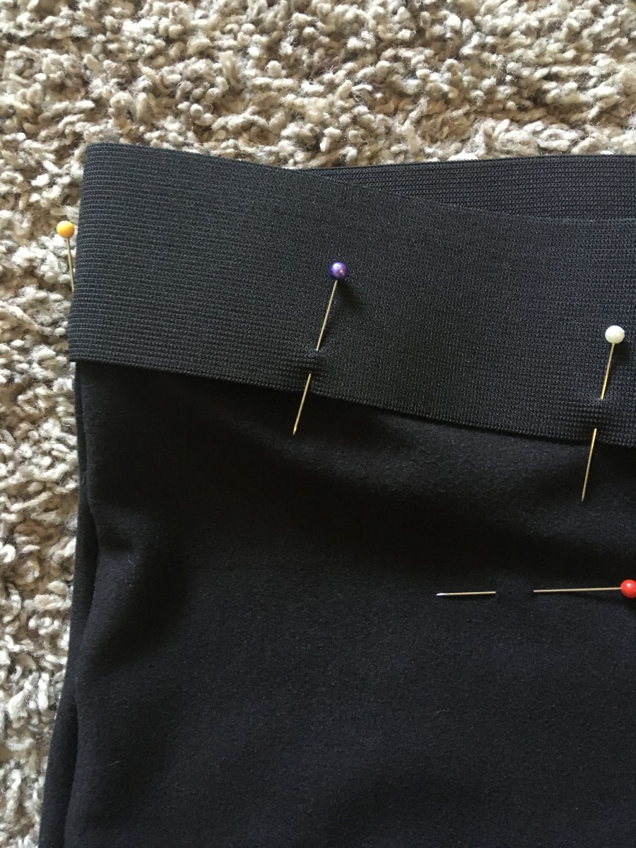 Outside view of pinned elastic