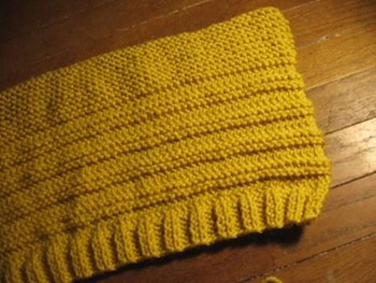 Here is the hat after it has been knit.