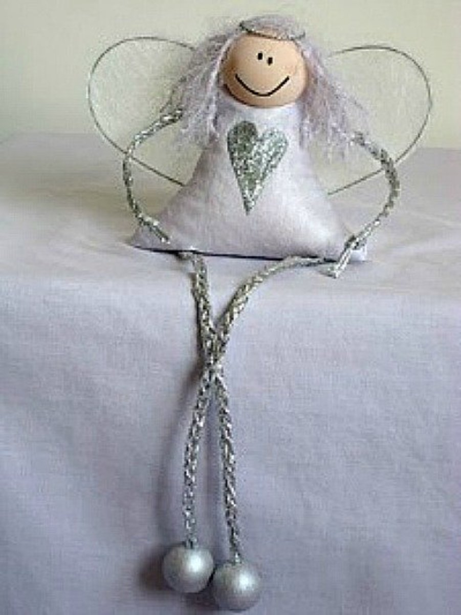 49 awesome angel crafts feltmagnet use the angels as ornaments or in centerpieces and table decorations go to and then i craft for the instructions solutioingenieria Image collections