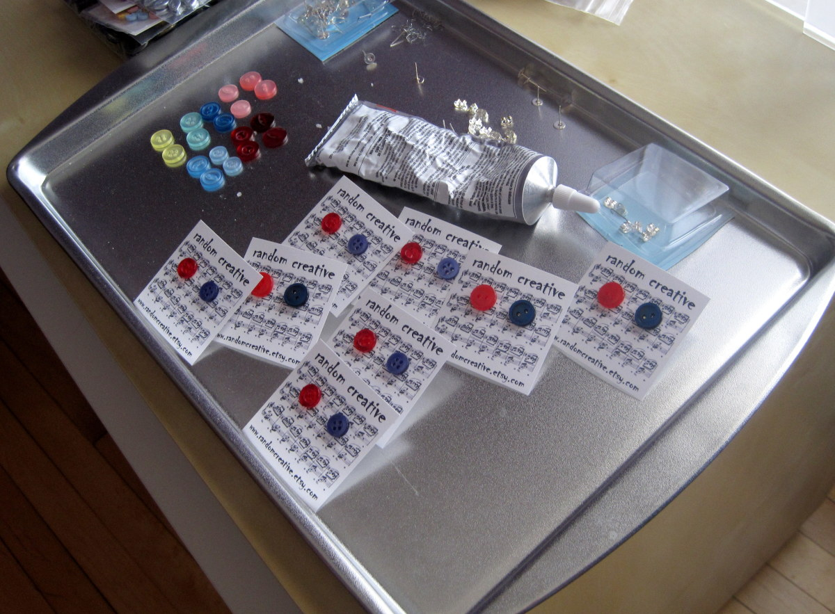 I have dedicated trays for planning button stud earrings and button magnets.