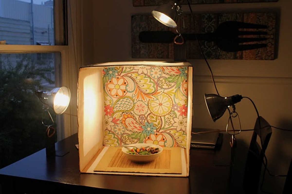 This post includes a great light box tutorial.