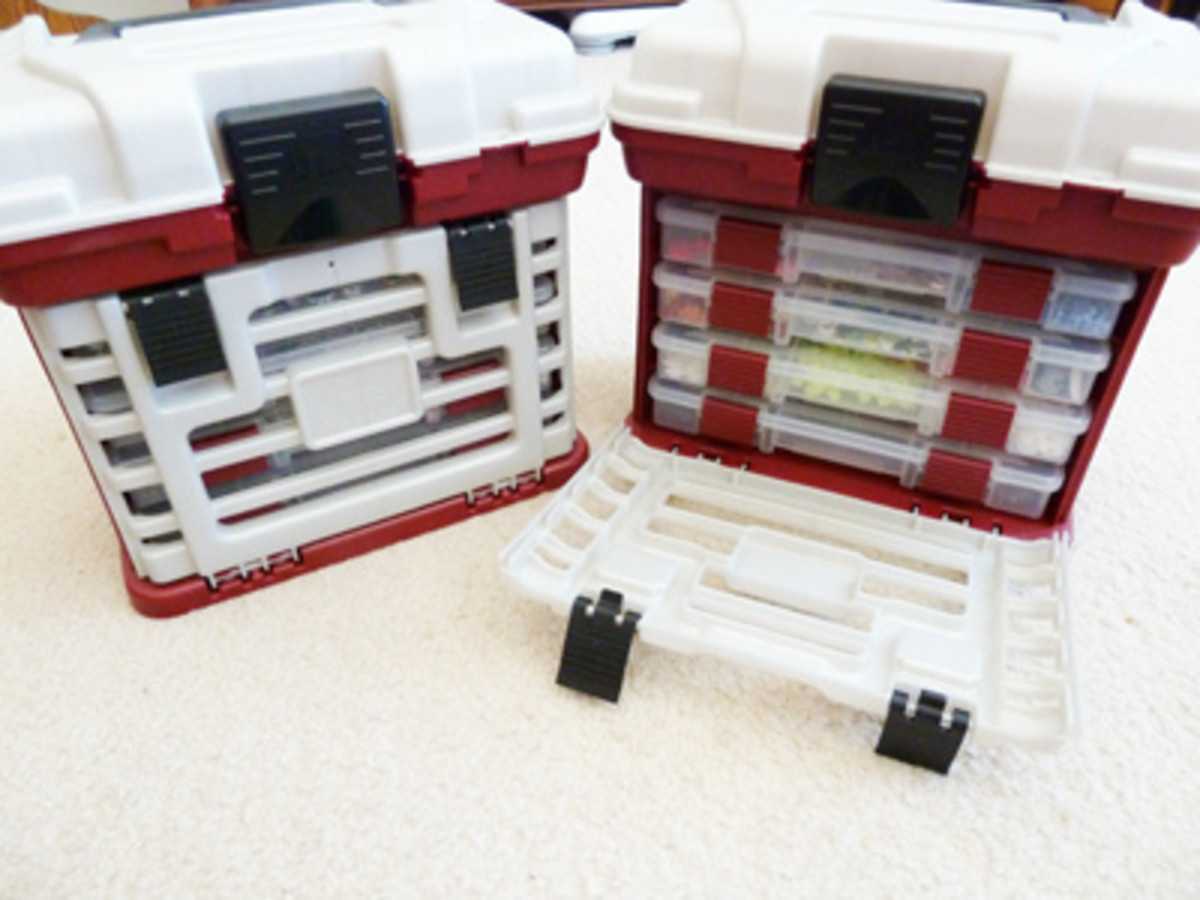Kelly uses containers similar to mine for her smaller craft supply storage, but she puts them in these larger organizers.
