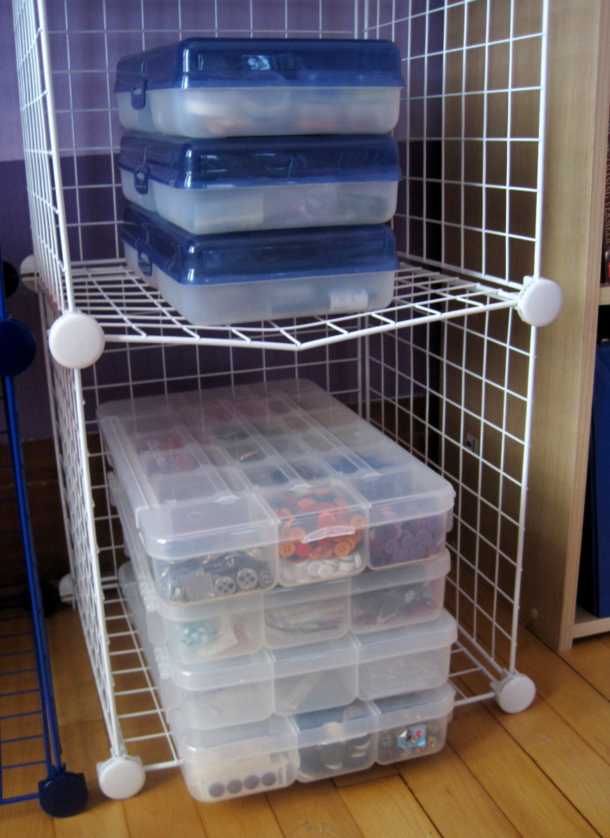 I Store All Of My Beads, Buttons, And Findings In Plastic Craft Organizers  Or