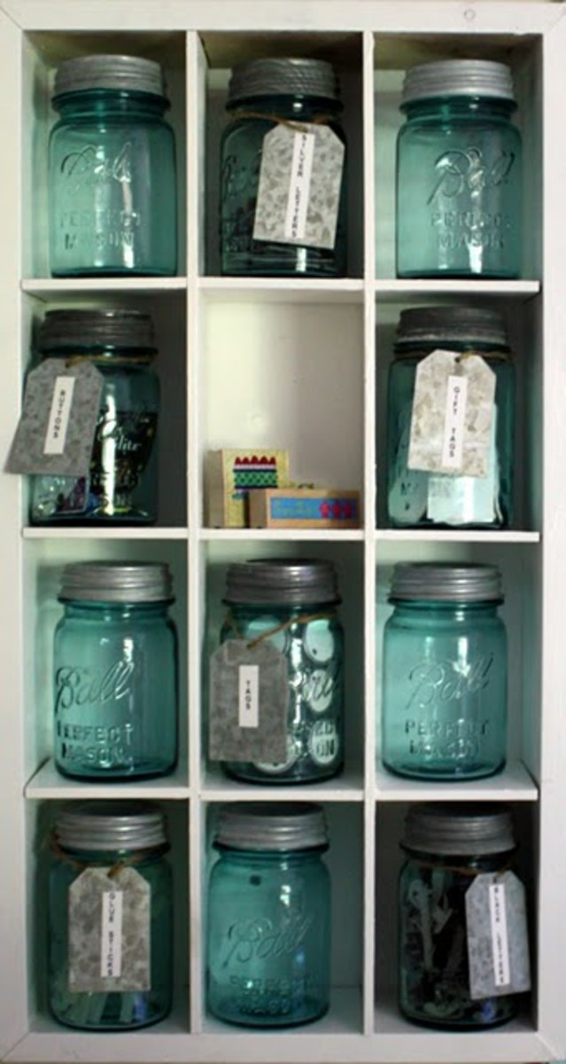 Ball jars are also an ideal smaller storage option.