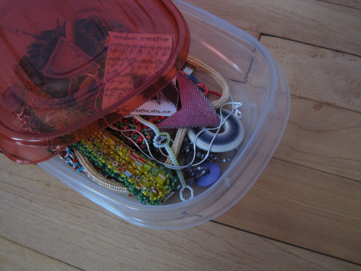Typically I wait until the container is full to sort and tag the items.