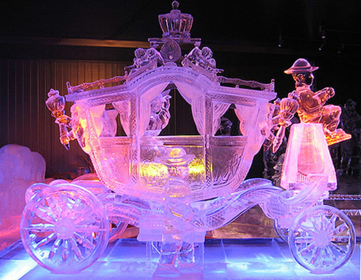 Harbin, China: Fairy tale carriage.