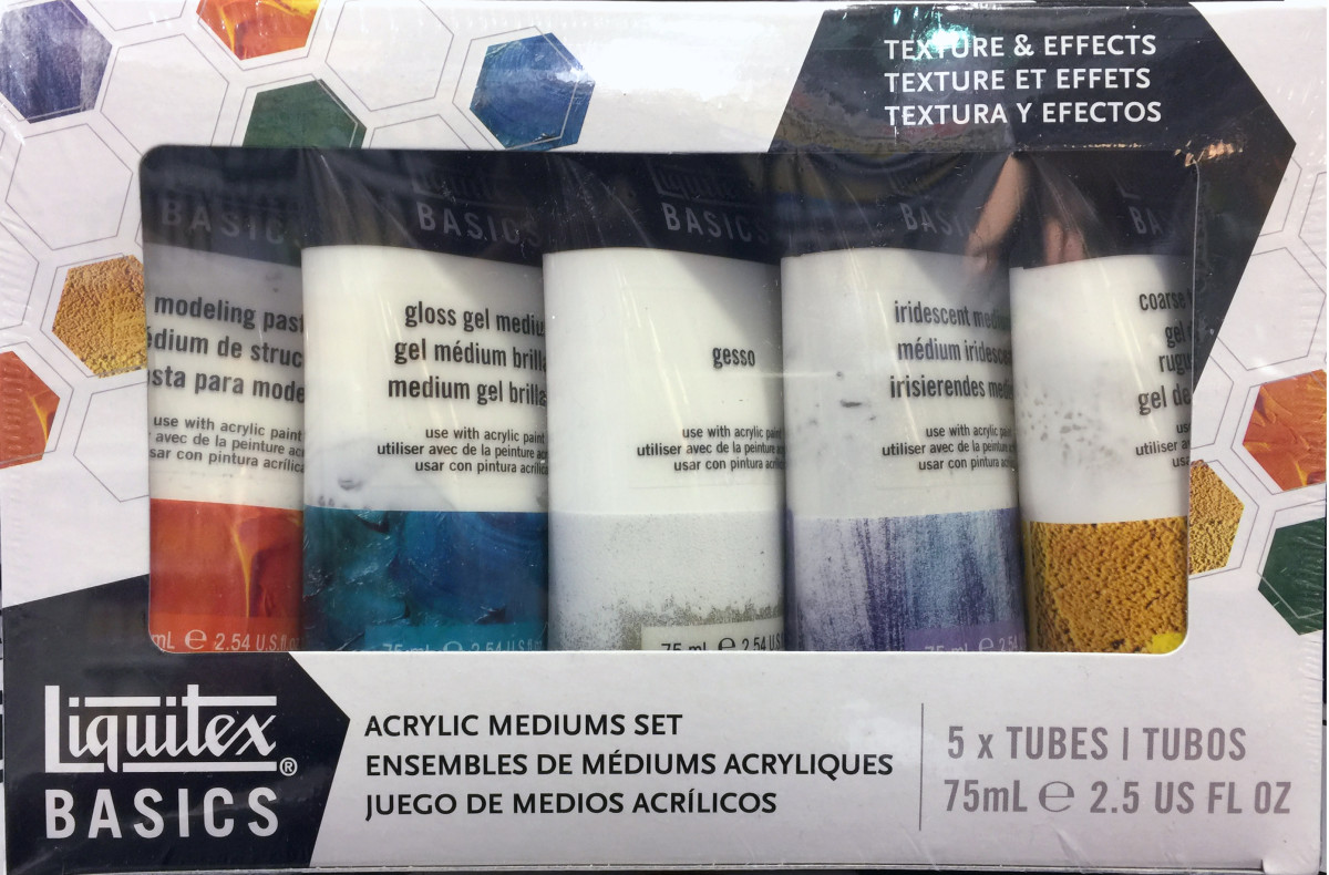 A good way to get a starting srt is to buy a kit of mediums already selected for you. This one include also gesso.