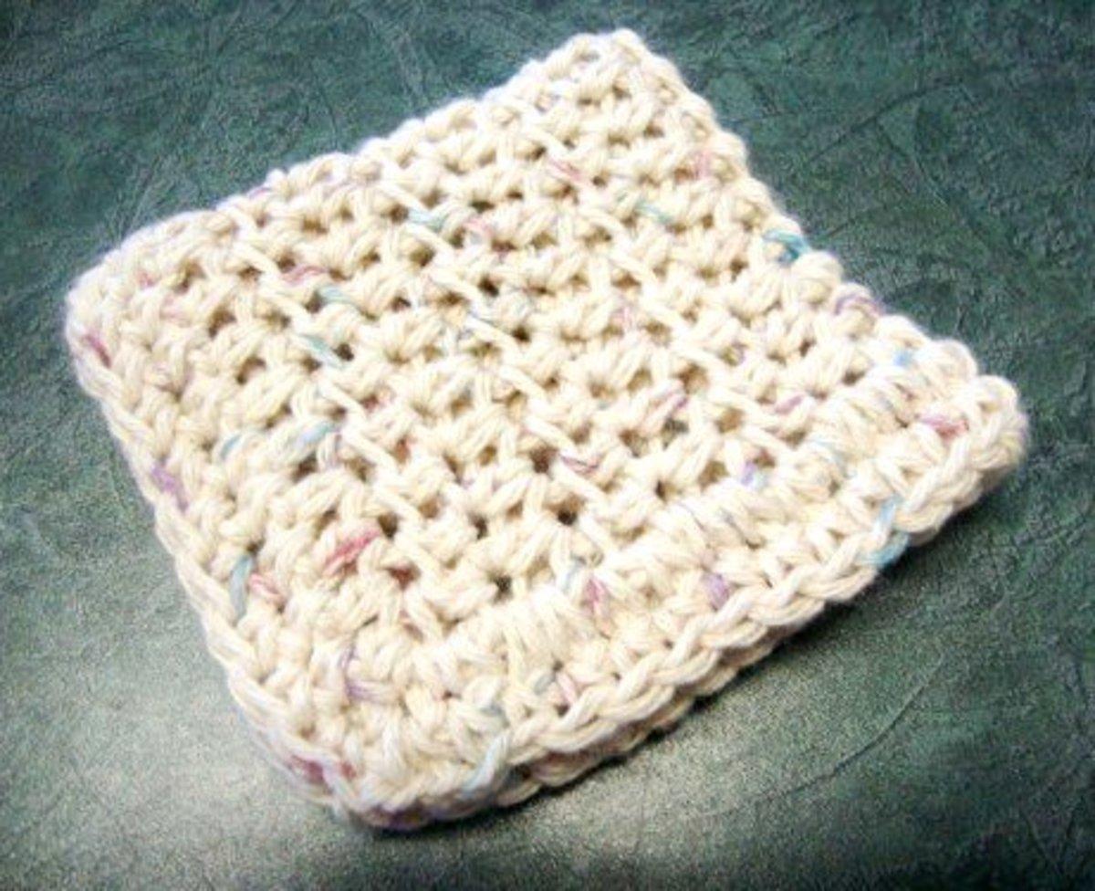 Dishcloth with variegated yarn