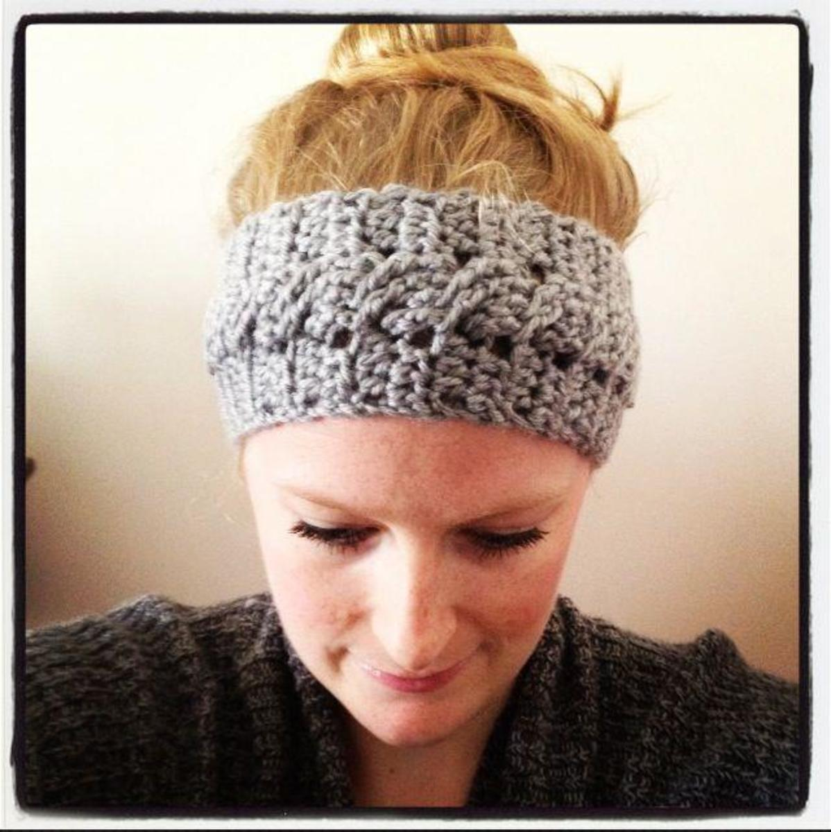 Delightful stylish headband for an advanced crocheter.