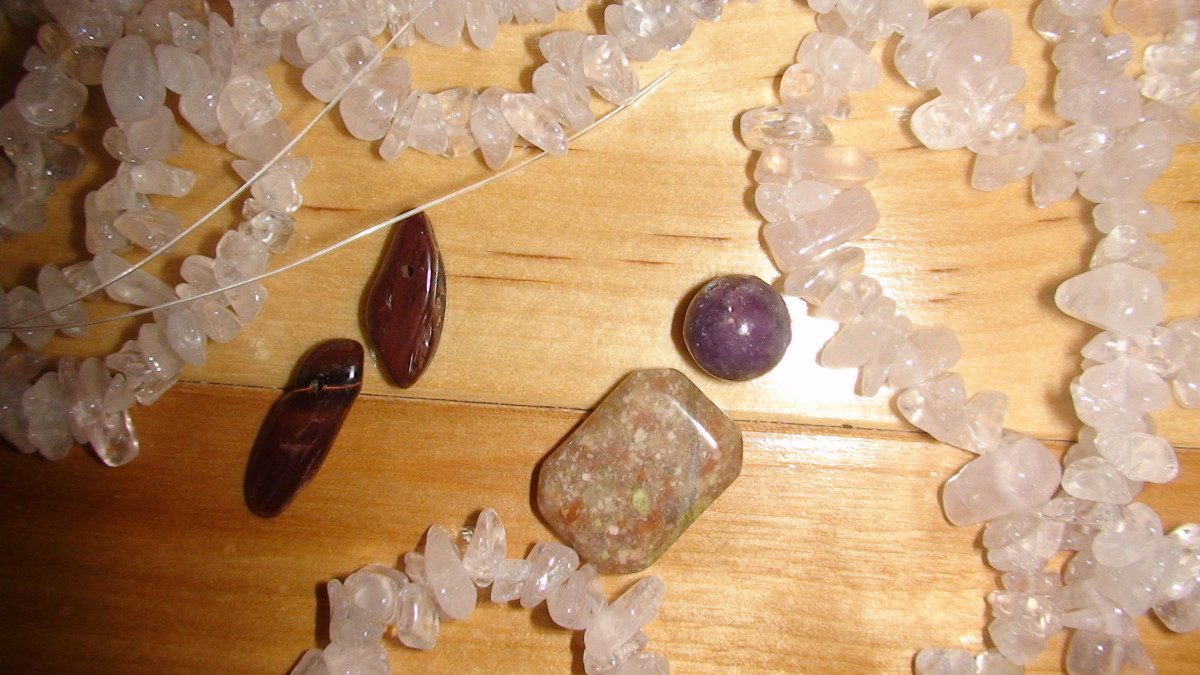 Gemstone beads.