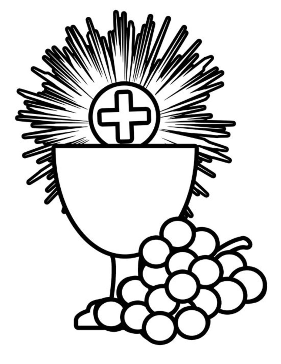 Catholic Coloring Page Holy Sacraments - Body & Blood of Jesus