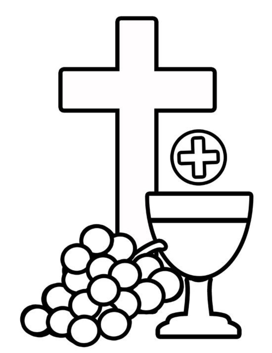 Free first holy communion clip art for Eucharist coloring pages