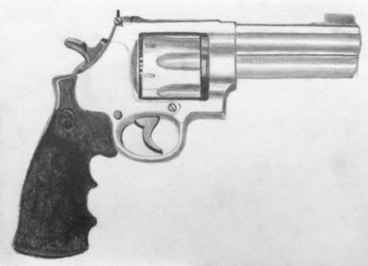 How to draw a gun drawing