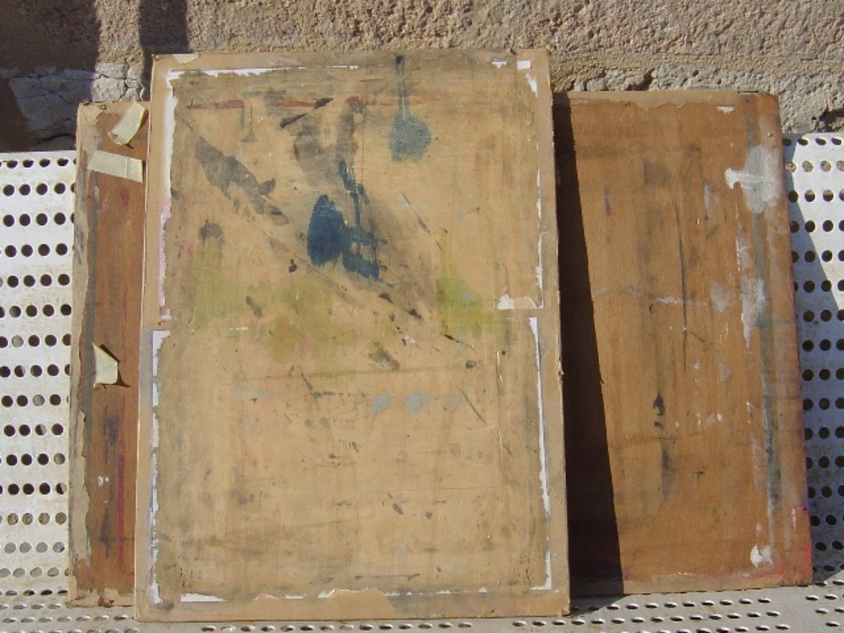 You can buy special drawing boards or just use plywood