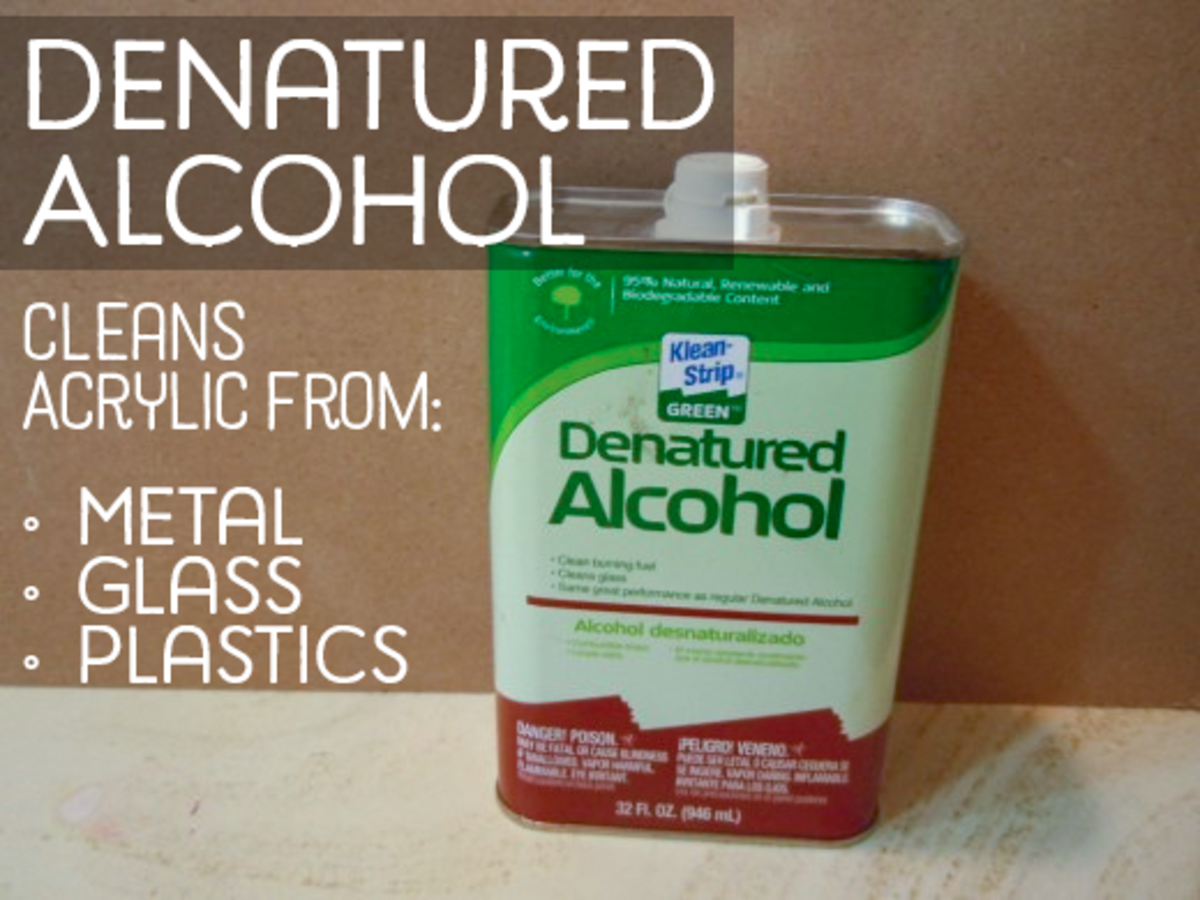 5 liquids that can remove dried acrylic paint from for Denatured alcohol for fireplace