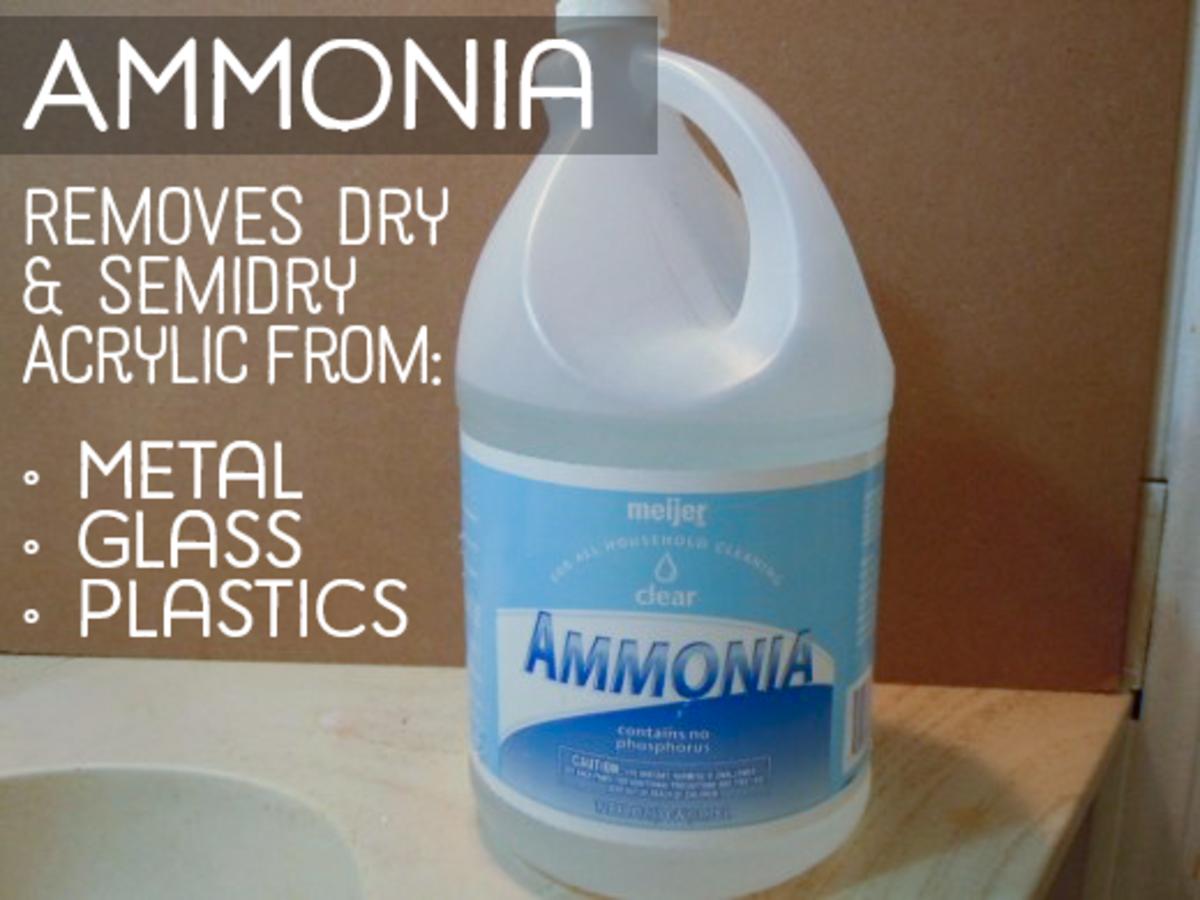 Gallon of household ammonia
