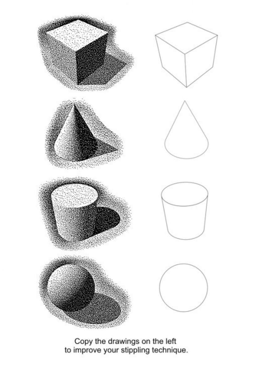 Three-dimensional shapes practice sheet