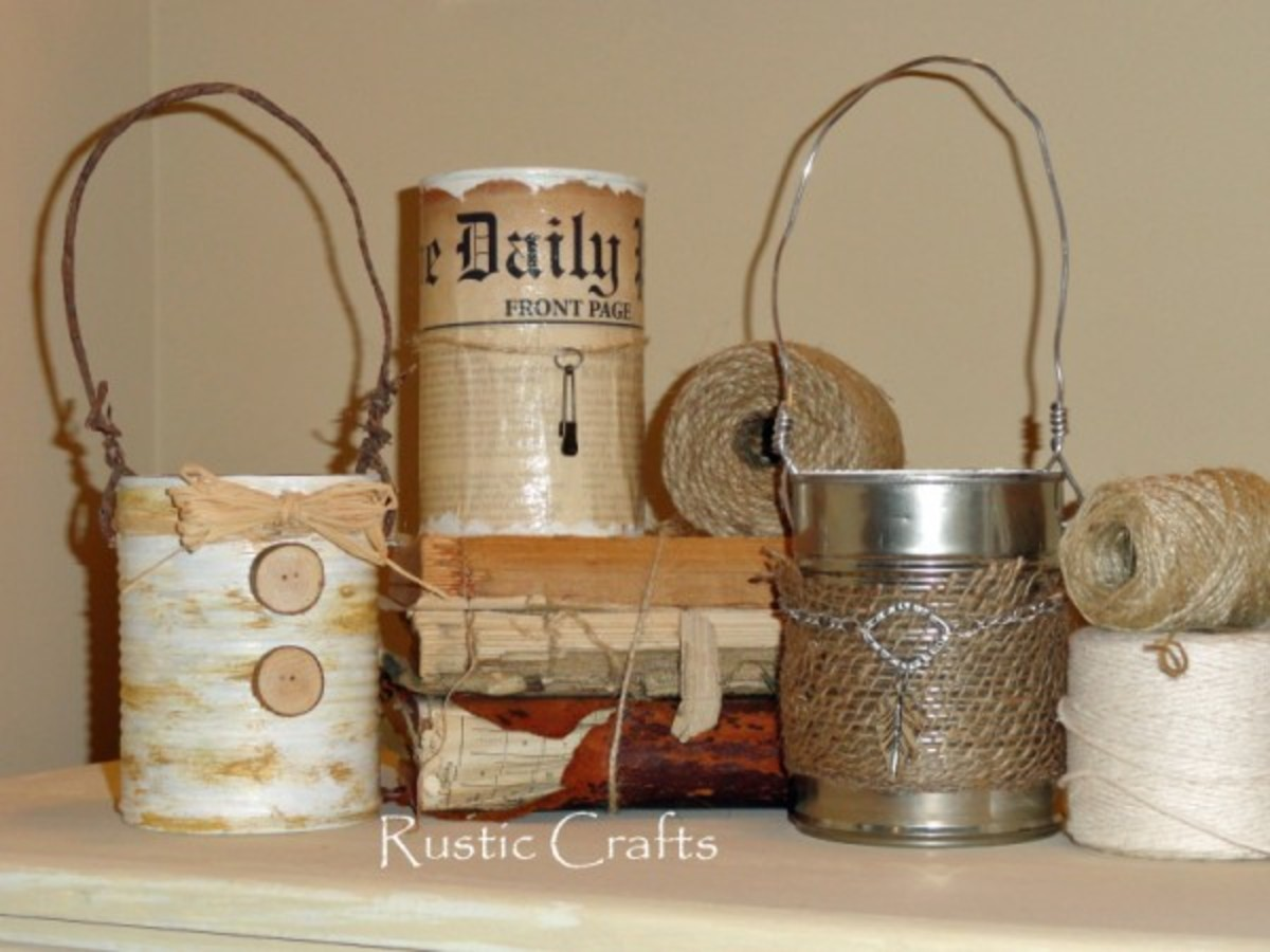 rustic tin can crafts