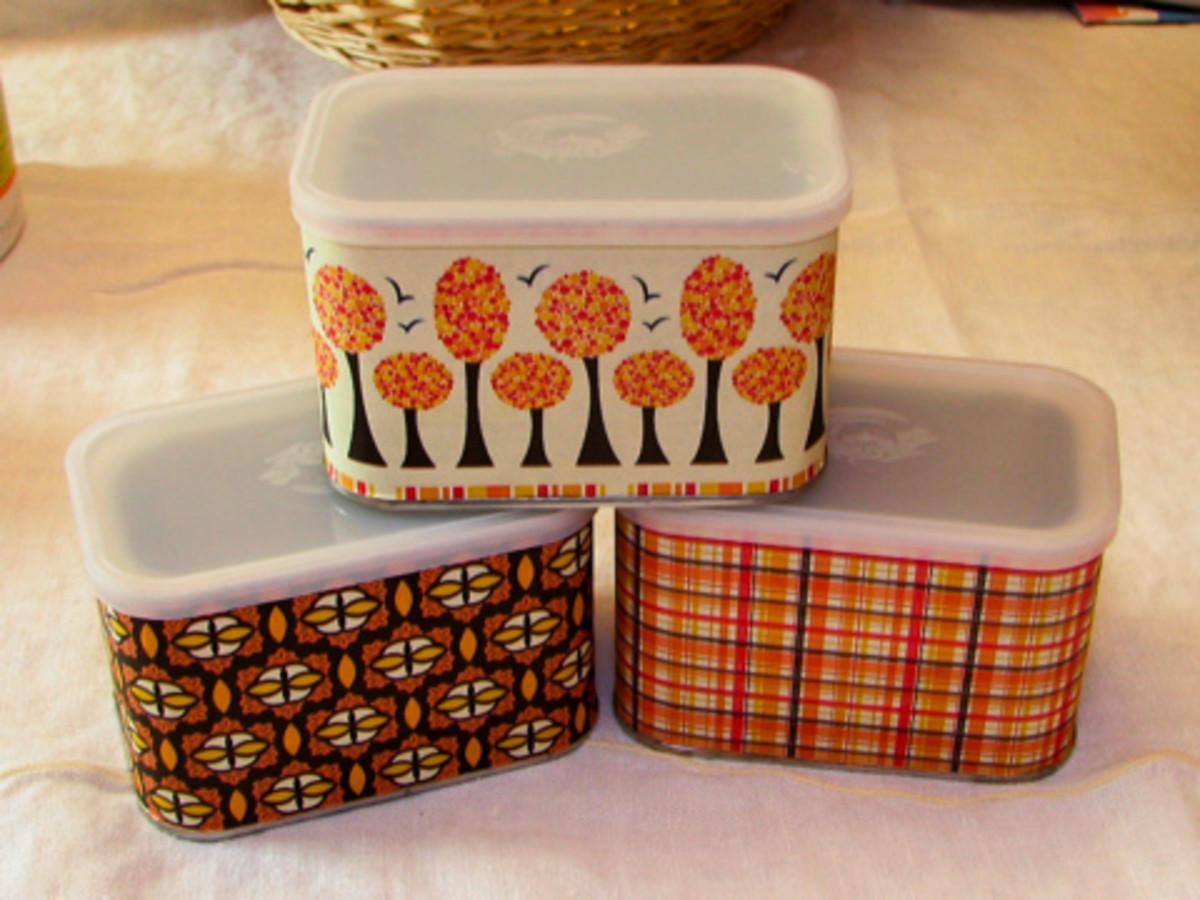 Decorative International Coffee Tins