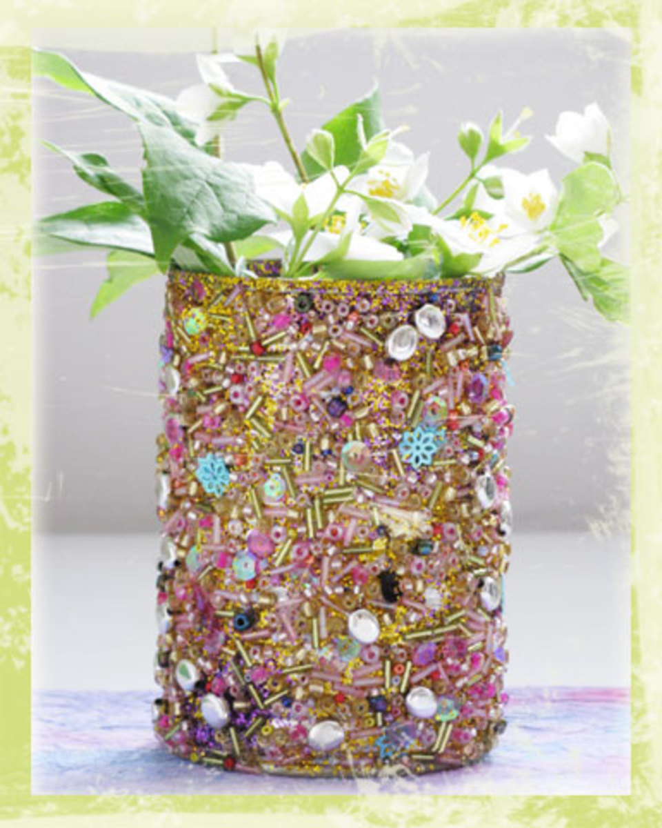 seed bead covered can
