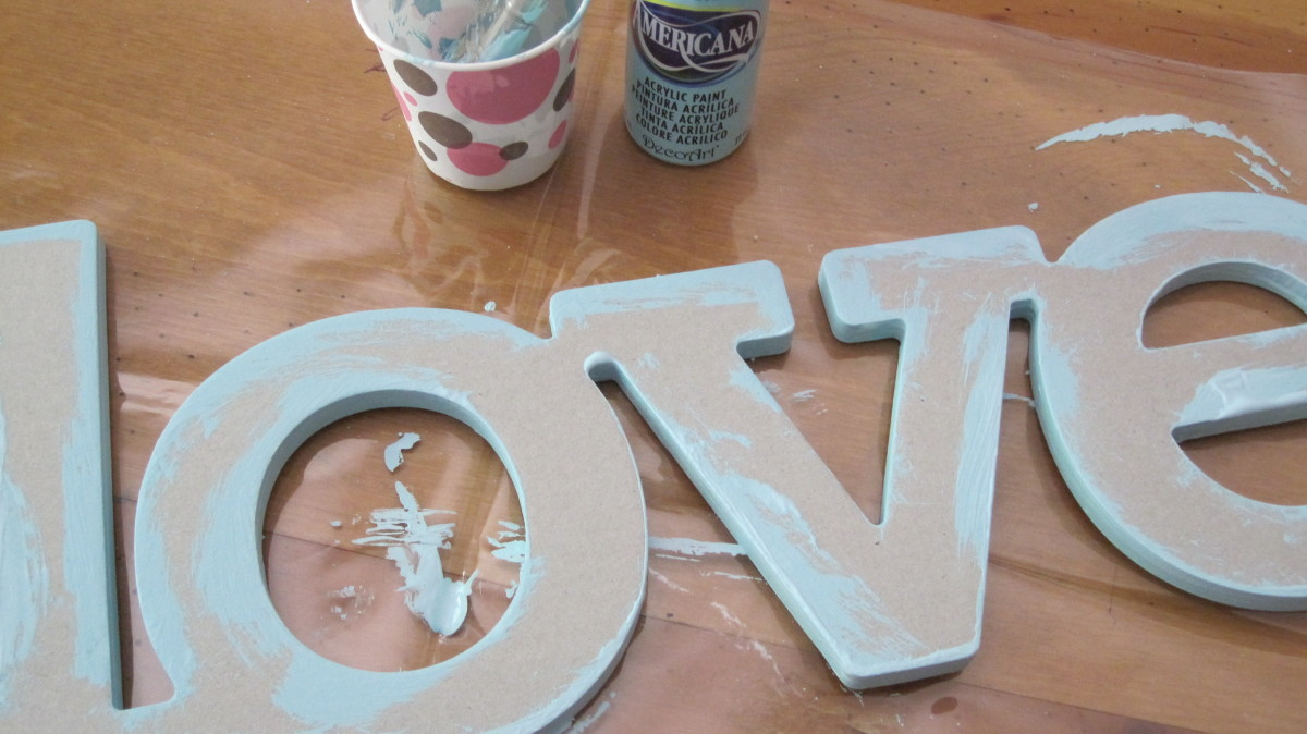 Paint the borders of the letter or word before adding paper