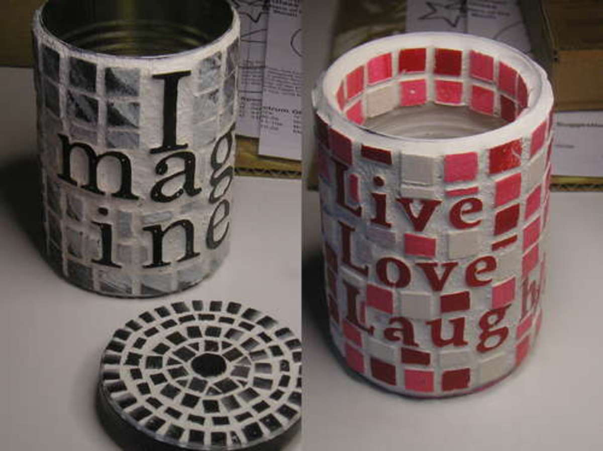 faux tile cans