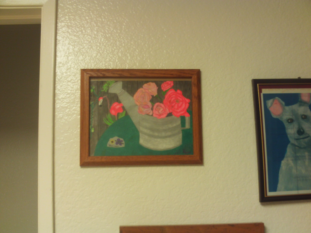 I framed my drawing as I do with many others.  Creating your own artwork is pleasurable when you enjoy drawing.