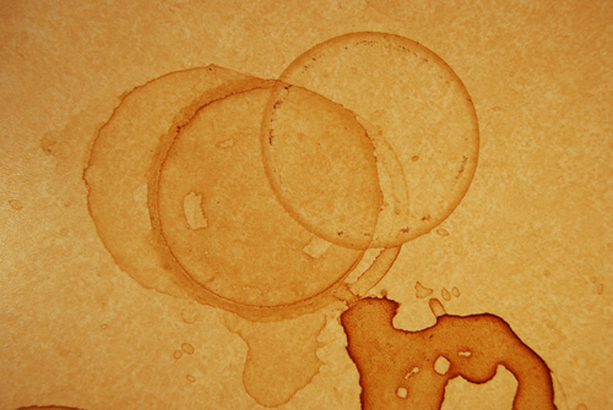 Coffee stained paper (Creative Commons)