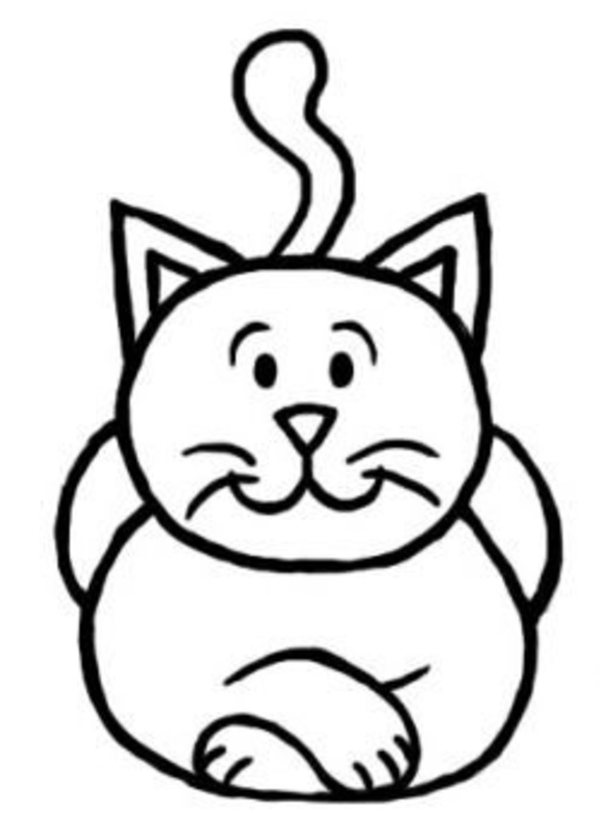 How to draw a cat step by step drawing tutorial for kids for Fun to draw cat